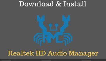 برنامج بطاقة الصوت Realtek HD Audio