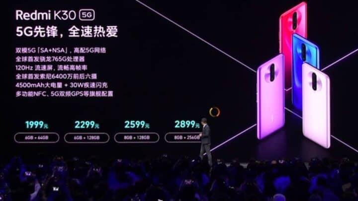 الإعلان الرسمي عن Redmi K30 5G ارخص هاتف يدعم الـ5G على الإطلاق 2