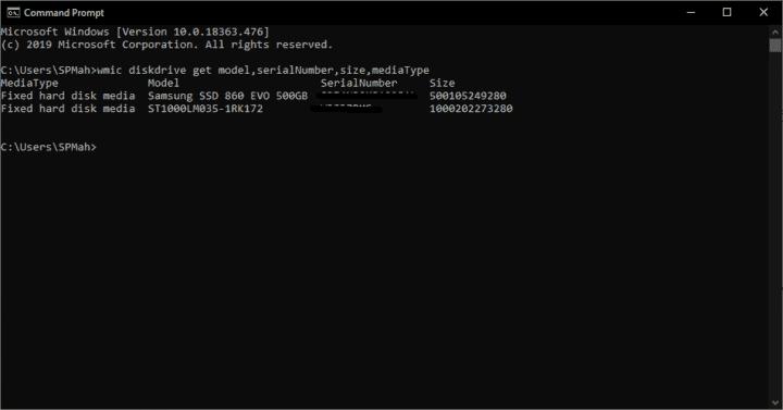 تعرف على مواصفات Hard disk الموصل في جهاز الكمبيوتر بدون برامج 3