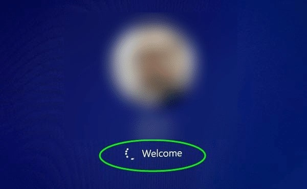 حل مشكلة توقف ويندوز 10 عند شاشة الترحيب Welcome 1