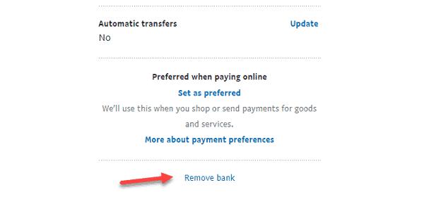 طريقة إزالة الحساب البنكي من Paypal مع إزالة بطاقات الإئتمان 3