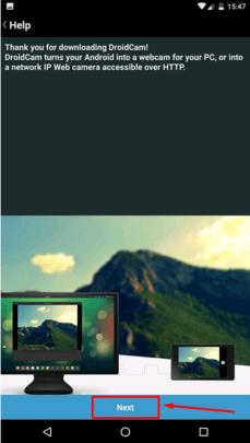 هاتف الأندرويد بدل Webcam