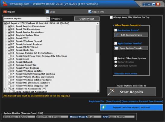 برامج إصلاح Windows 10