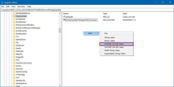 كيفية ايقاف تثبيت Microsoft Edge الجديد على جهازك الشخصي. 6