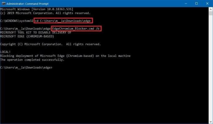 كيفية ايقاف تثبيت Microsoft Edge الجديد على جهازك الشخصي. 4