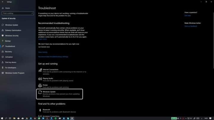 حل مشكلة تحديثات ويندوز Windows Update لا تعمل على ويندوز 10 14