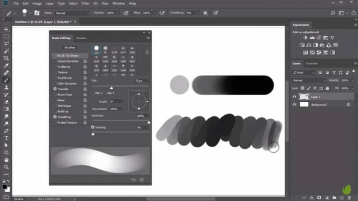 استخدام photoshop brushes معGimp في ويندوز10 1