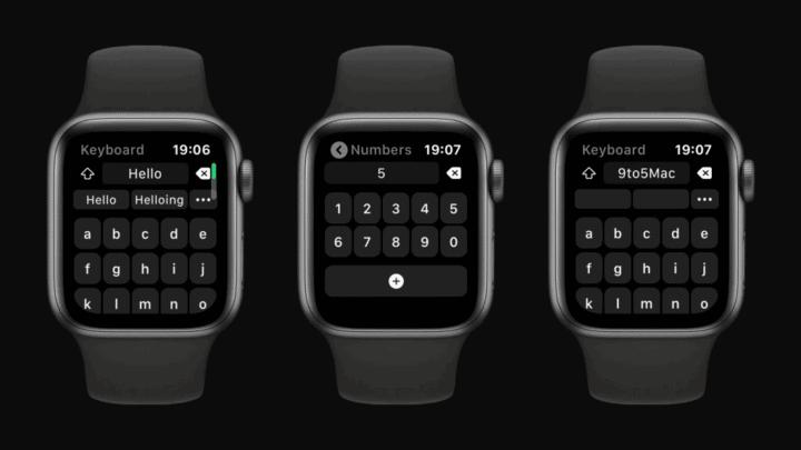 كيبورد كاملة لساعة Apple الذكية 2