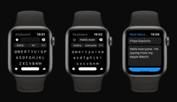 كيبورد كاملة لساعة Apple الذكية 3