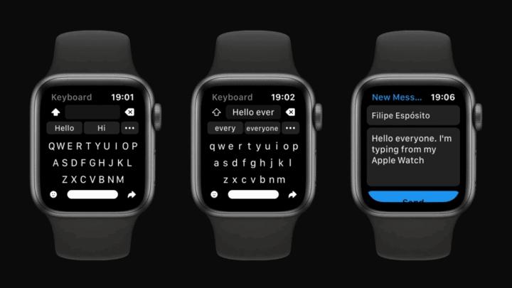 كيبورد كاملة لساعة Apple الذكية 1