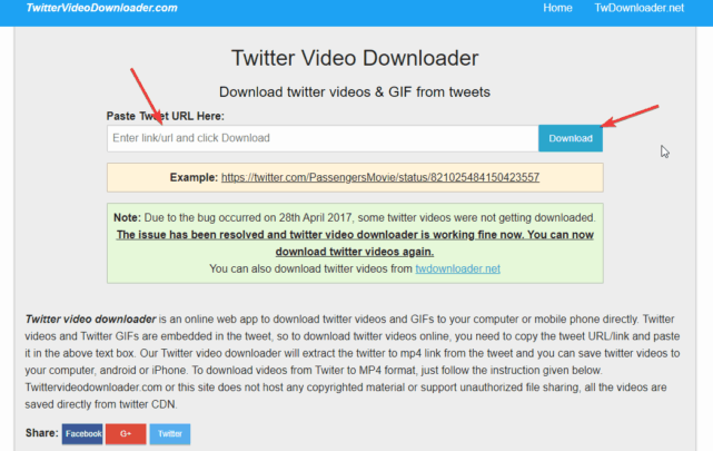 تحميل الفيديو من تويتر على ويندوز 10 2