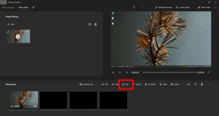 طريقة إضافة كتابة على الفيديو في ويندوز 10 3