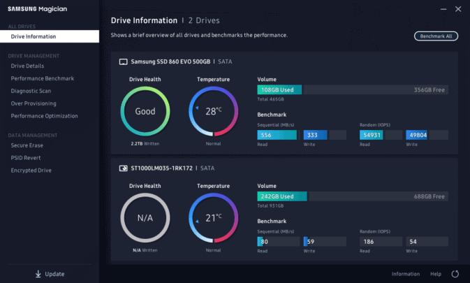 النسخة الجديدة من Samsung Magician تطبيق متابعة اداء و صحة الـSSD 2