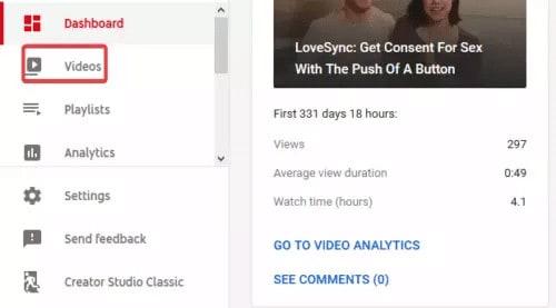 طريقة حذف فيديو من يوتيوب 2020 نهائياً 3