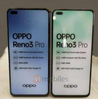 ظهور Oppo Reno 3 Pro مع مواصفاته 1