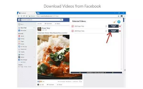 طريقة تحميل فيديو من فيس بوك في ويندوز 10 4