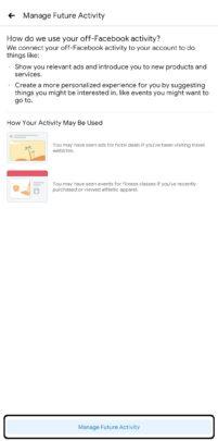 كيفية اغلاق تتبع فيس بوك لنشاطاتك على هاتفك 6