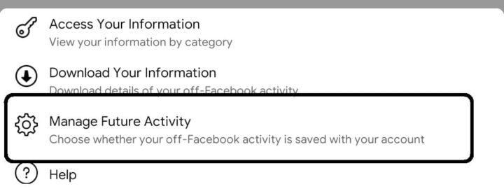 كيفية اغلاق تتبع فيس بوك لنشاطاتك على هاتفك 5