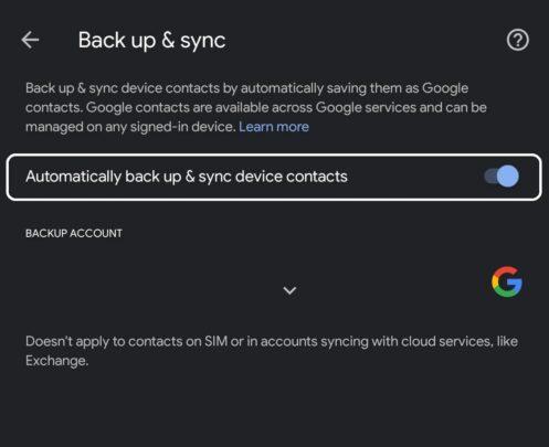 كيفية حل مشكلة فشل مزامنة الأسماء على حساب جوجل 5