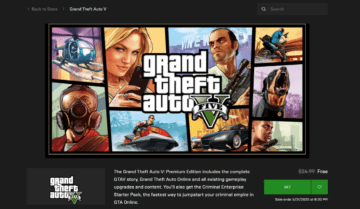 تحميل لعبة GTA V مجانًا من متجر Epic Games 2020