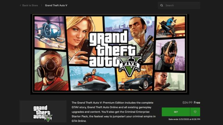 تحميل لعبة GTA V مجانًا من متجر Epic Games