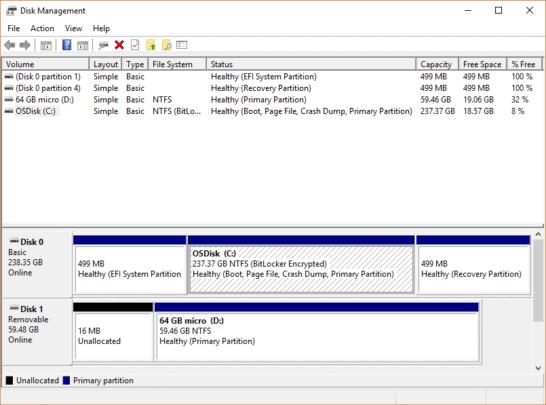 طريقة إصلاح عطل Unallocated Space في ويندوز 10 1