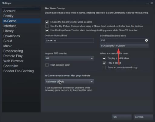 طريقة تغيير مجلد Screenshots في Steam على ويندوز 10 3