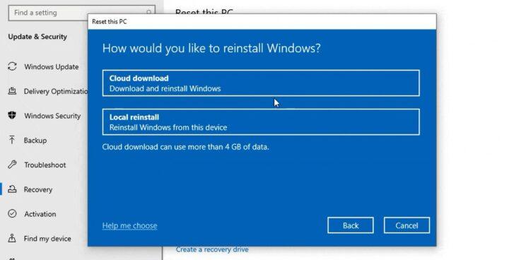 جميع مميزات تحديث Windows 2020 cloud-recovery-720x3