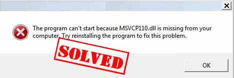 ملف msvcr110.dll