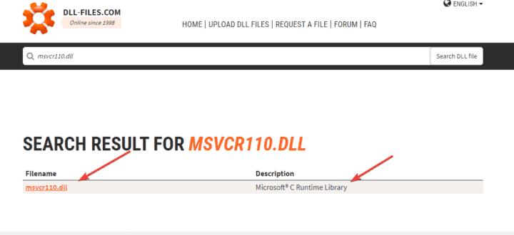 طريقة إصلاح ملف MSVCR110.dll المفقود في ويندوز 10 2