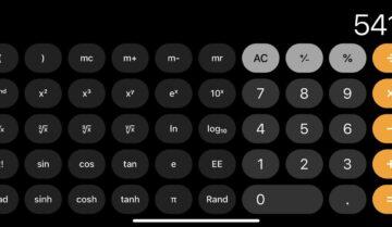 طريقة إستخدام الآلة الحاسبة العلمية في هواتف iphone
