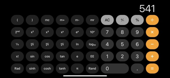 طريقة إستخدام الآلة الحاسبة العلمية في هواتف iphone 1