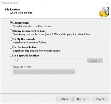 كيفية استرجاع الملفات المفقودة على ويندوز 10 5