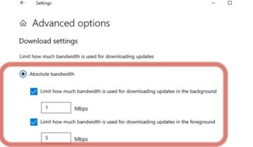 كيفية تحديد سرعة تنزيل تحديثات ويندوز 10 بدون برامج مع التحديث الجديد 8