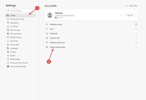 طريقة نقل باسورد جوجل كروم إلى متصفح Edge بسهولة 2