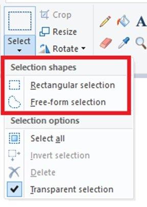 طريقة جعل الخلفية شفافة في برنامج الرسام على ويندوز 10 4