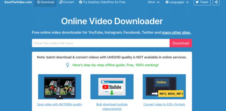 أفضل مواقع تحميل فيديوهات اليوتيوب والفيس بوك 3