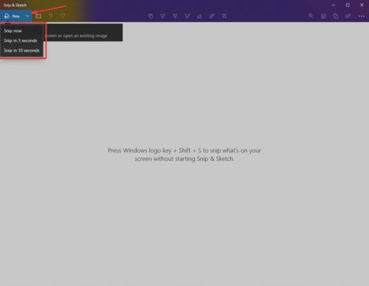 برنامج سكرين شوت Snip & Sketch المجاني لويندوز 10 1