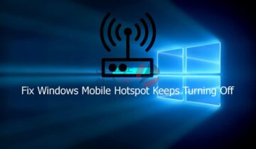 حل مشكلة توقف mobile hotspot تلقائيًا على ويندوز 10 5