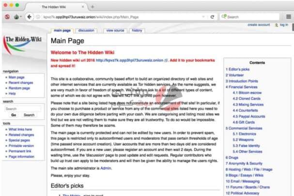 مجموعة مواقع مفيدة من الانترنت المظلم 1