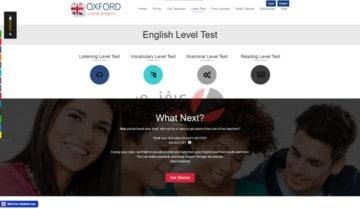 حدد مستوى اللغة الإنجليزية الخاص بك مع موقع Oxford اونلاين 2