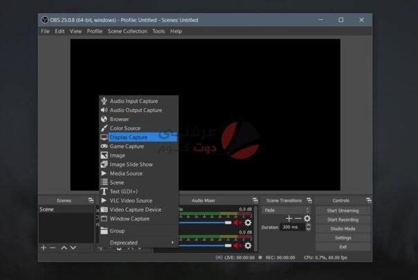طريقة بث الألعاب وإضافة الكاميرا على ويندوز 10 2