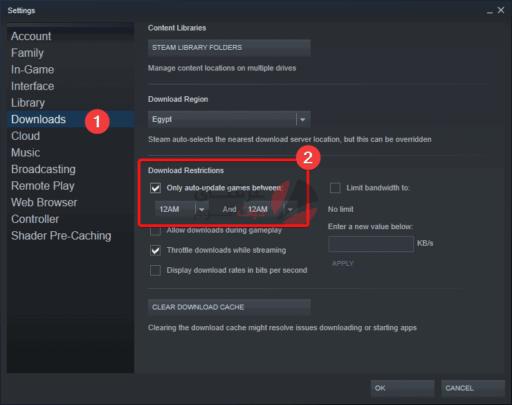 طريقة تعطيل تحديث ألعاب Steam التلقائي 2