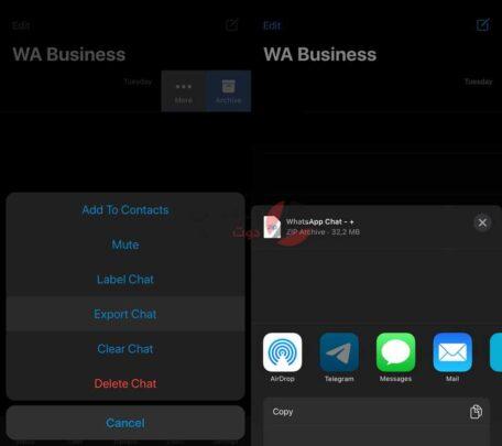 تيليجرام تعمل على خاصية لنقل الدردشة من واتس اب 1