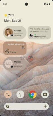 هذه اول نظرة على Android 12 بالتصميم الجديد وبعض المزايا 4