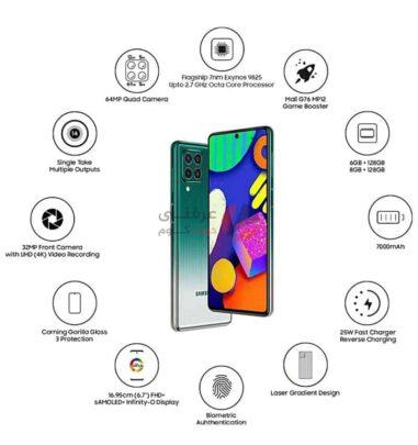 مواصفات ومميزات وعيوب وسعر Samsung Galaxy F62 6
