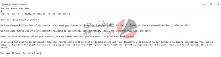 ستوديوهات CD Projekt Red تتعرض للاختراق وبيع بعض المعلومات المُسربة 1