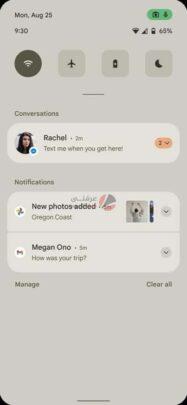 هذه اول نظرة على Android 12 بالتصميم الجديد وبعض المزايا 2