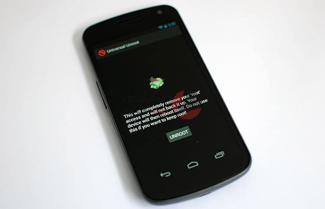 إلغاء الجذر Root بضغطة واحدة لأي جهاز يعمل بنظام Android 1