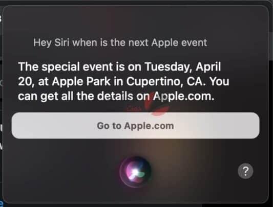 Siri تسرب ميعاد مؤتمر Apple القادم لأجهزة أيباد برو 2021 1